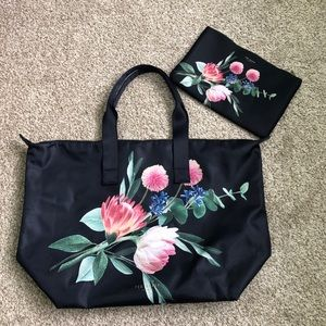 Ted Baker Floral Foldaway Shopper Tote & Pouch